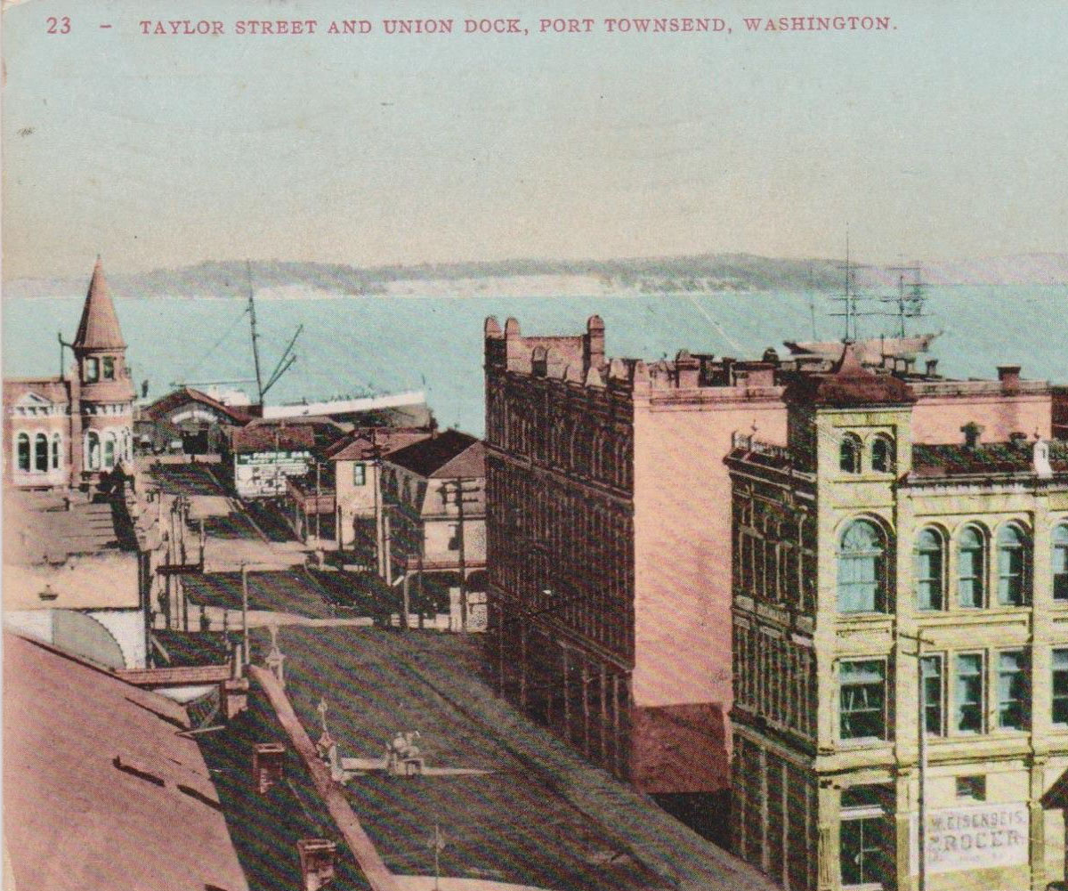 Hastings - port townsend c1900 postcard crop