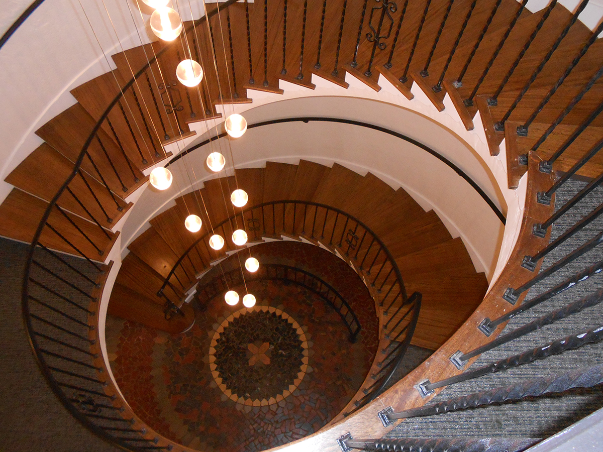 Anhalt - circular stair from above